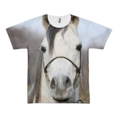Equestrian Apparel - Wild Horse Head - All Over T-Shirt (unisex) - $36.00