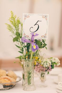 Pretty English Summer Garden Wedding Calligraphy Table Number http://www.weheartpictures.com/
