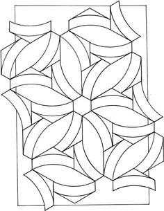 Geometric Shapes Cartoon Coloring Page  printable patterns