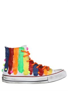5ee00b4deab67b CONVERSE LIMITED EDITION PAINTED CANVAS SNEAKERS Painted Sneakers