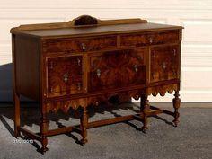 Kijiji: Gorgeous Antique Walnut Server / Sideboard, 2 China Cabinets