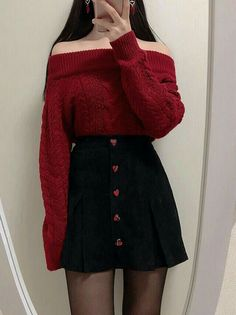 Stylish ideas on winter korean fashion 580 - .Stylish ideas on winter korean fashion 580 - Check out this Stylish korean street fashion - Teen Fashion Outfits, Edgy Outfits, Mode Outfits, Cute Casual Outfits, Cute Fashion, Pretty Outfits, Fashion Clothes, Girl Outfits, Fasion