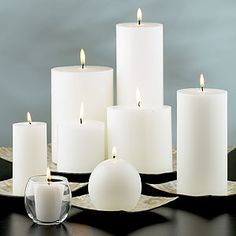 White candles -- used for protection, purification, peace, meditation, healing, truth, spiritual strength and guidance, lunar magick, purity, happiness, masculine divine, virginity, innocence, feminine divine, relaxation, or as a substitute for any other color if it's not available