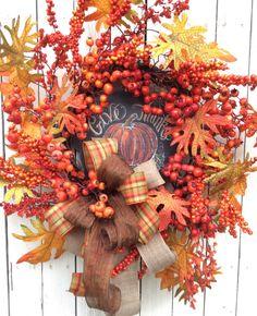 Осенние венки. Декор дверей дома. Обсуждение на LiveInternet - Российский Сервис Онлайн-Дневников