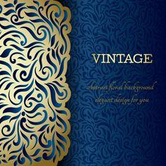 Ornate pattern vintage background graphics 01 free