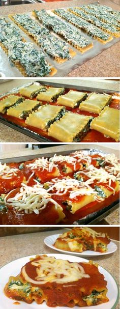 The Best Spinach Lasagna Rolls on Pinterest! Easy & Delicious 40 Minute Dinner.