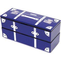 elegant dark blue suitcase Lacquer Bento Box Lunch Box