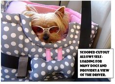 Dog Car Seat by DotBelleDog on Etsy