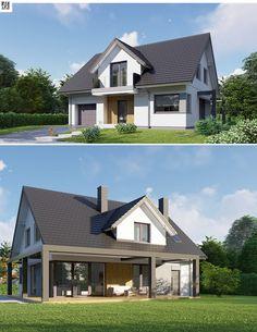 Bungalow Conversion, Micro House, Attic Rooms, Home Design Plans, Home Fashion, Modern Architecture, Future House, House Plans, Pergola