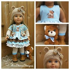 Spring  Bear outfit clothes for 18 inch doll - american girl doll | eBay