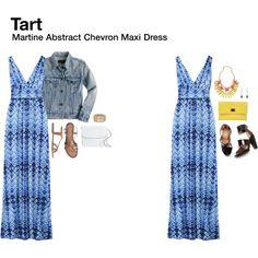 """Martine Abstract Chevron Maxi Dress"" by katrinalake on Polyvore  I like this dress!  -VA"