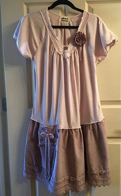 Upcycled tunic dress boho ooak artsy funky eco friendly recycled repurposed altered shabby chic #upcycle #tunic #dress #boho #affiliate