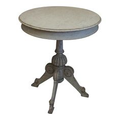 Image of Swedish Center Table with Carved Pedestal