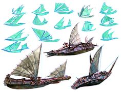 Sketches for Eret's ship. #httyd2