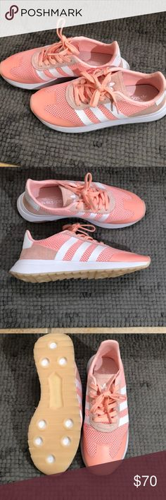 Pink Adidas Shoes NWOT Size 9 Pink/peach Never worn No box adidas Shoes Athletic Shoes