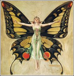 """F.X. Leyendecker - 1922 """"The Flapper"""" (painting for 2-2-1922 Life cover) 