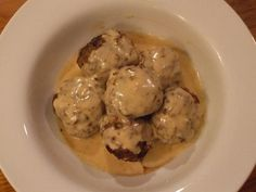 Swedish meatballs - doubled the recipe, used 1# gr beef and 1# gr pork, whole eggs instead of yolks, coconut flour instead of almond meal/potato starch (ran out of almond meal), and chicken broth (homemade of course) instead of beef. Super yummy! Cooked one batch and froze the other half for later.