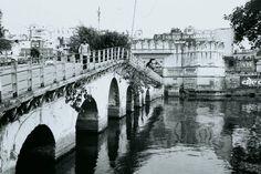 Crossing the bridge.  Udaipur India.  #India #udaipur #rajhastan #craigfergusonimages #film