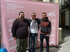 Iván López junto al compositor Jesús Agomar( izquierda) y el técnico de sonido Manolo Tricás en el Festival Internacional de cine de Las Palmas de Gran Canaria.