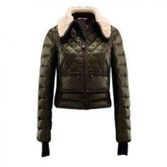 France Moncler Warm Olive Jacket Women Outlet