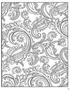 Printable Paisley Coloring Pages