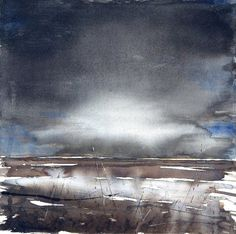 Before the storm - watercolor SO Sivertsen #watercolor jd