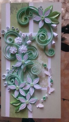 Postcard in the technique of quilling by QuillingByKadriya on Etsy