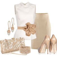 Classy, chic, elegant, boardroom ready! This outfit demands respect and attention. FABULOUS.