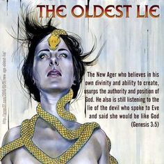 """""""New Age"""" divine nature is same old lie told to Eve. It is in mankind's sin nature to usurp the authority and divinity of God. Pseudo Science, Encouragement, Bible Truth, Spiritual Warfare, Spiritual Awakening, Bible Scriptures, Bible Qoutes, New Age, Word Of God"""