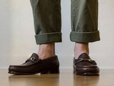 Our friends at Oak Street Bootmakers give us the first look at their latest release: The Calfskin Bit Loafer. These guys were hand-sewn in Maine with Horween's calfskin leather and feature a leather sole with a stacked leather heel and…