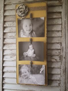 the french flea: Rustic Picture Frames as Gift Ideas by thefrenchfleashop on Etsy! Wood Block Crafts, Diy Wood Projects, Wood Crafts, Rustic Picture Frames, Picture On Wood, Rustic Pictures, Picture Holders, Photo Holders, Craft Night