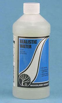 Realistic Water 16 oz.  Are you looking for the perfect (easy!) way to make a pool or pond in your miniature display?  Try Realistic Water!  www.justminiaturescale.com