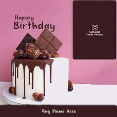 Happy Birthday Sister Cake, Latest Birthday Cake, Happy Birthday Chocolate Cake, Round Birthday Cakes, Birthday Cake Writing, Unique Birthday Cakes, Birthday Cake With Photo, Birthday Wishes Cake, Happy Birthday Cake Images