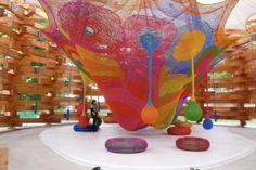 parque de atracciones tejido
