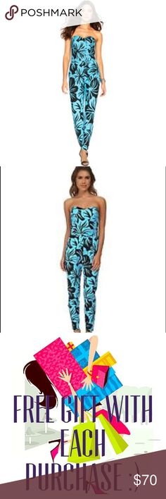 Michael Kora floral jumpsuit! Selling very beautiful floral turquoise and black jumpsuit. Tag says size 10 but it's more like 8. It's new, with tags. I love it but unfortunately I'm only 5'2 and I would say this is for at least 5'4-5'5 girl.                                                               Bust: 16.5; Waist: 15.5; Hips: 20.5 Michael Kors Pants Jumpsuits & Rompers