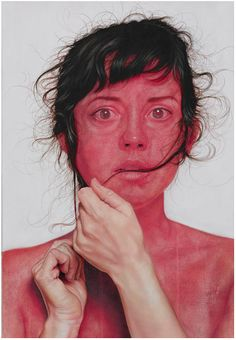 Jenny Morgan (Tumblr) is a contemporary artist who creates large figurative oil paintings. Her work is vibrant and real, her depictions of both women and men feel more like candid photos than paintings.