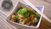 Chicken Fried Cauliflower Rice - At the Tip of the Tongue- Slow cooker balsamic and garlic palette roast – At the tip of the tongue Chicken Fried Cauliflower Rice, Fried Chicken, Beignets, Pesto, Cordon Bleu, Tasty Dishes, Mashed Potatoes, Chicken Recipes, Dessert Recipes