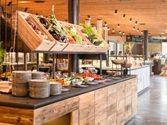 Forsthofgut Hotel & Spa Leogang is a luxury boutique hotel with modern design - perfect for families wrapped by the Leogang Mountains. Bakery Shop Design, Hotel Buffet, Cafe Interior Design, Breakfast Buffet, Food Trends, Menu Design, Hotel Spa, B & B, Food Presentation