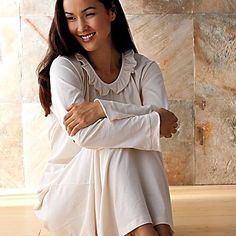 White Organic Cotton Nightgown ♥