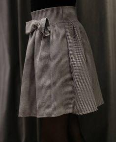 Falda cuadros lazo