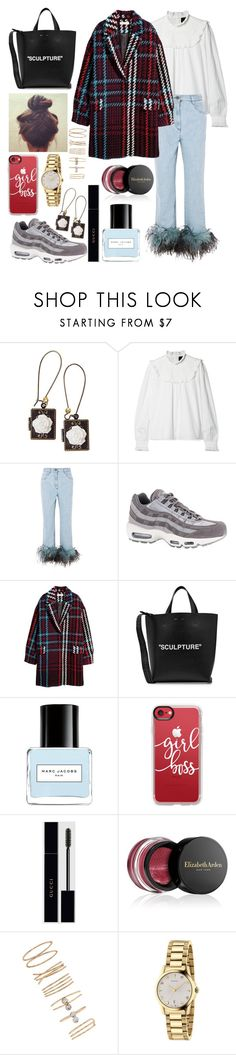 """""""CULTURE"""" by lina18neko ❤ liked on Polyvore featuring Poporcelain, Needle & Thread, Prada, NIKE, Off-White, Burton, Marc Jacobs, Casetify, Gucci and Elizabeth Arden"""