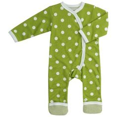 Pigeon Organic Clothing for babies Long Green Spotty Romper Playful spotty romper with side fastening and contrasting striped cuffs at feet, to keep closed when babies are small, and unfold as they grow. Ivory binding and striped neck buggy detail. Organic Baby Clothes, Unisex Baby Clothes, My Baby Daddy, Romper Suit, Playsuits, Organic Cotton, Onesies, Kids Fashion, Rompers