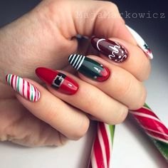 90 Beautiful Square Nails Design Ideas You'll Want To Copy Immediately – Pa. 90 Beautiful Square Nails Design Ideas You'll Want To Copy Immediately – Page 3 – Cocopipi Cute Christmas Nails, Christmas Nail Art Designs, Holiday Nail Art, Xmas Nails, Fall Nail Designs, Santa Christmas, Christmas Manicure, Christmas Design, Santa Nails