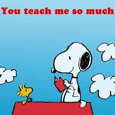 Teaching love snoopy style