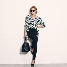 Leopard Button-Down Shirt - DABAGIRL