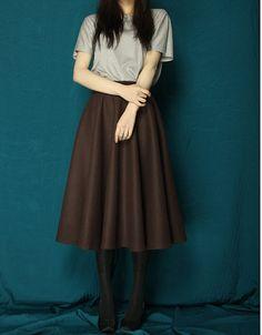 winter skirt long skirt wool skirt custom skirt designer by FM908 on Wanelo