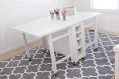 Craft room new desk - Martha Stewart furniture.  Collapsible