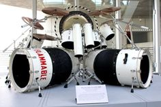"Alex Van Halen's historic drum kit The set, which was used on more than 100 shows during Van Halen's 1980 World Invasion Tour in support of the ""Women and Children First"" album, is now on display at the Cleveland site."
