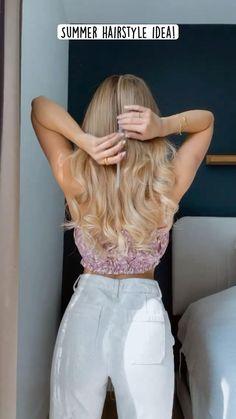 Hairdo For Long Hair, Easy Hairstyles For Long Hair, Summer Hairstyles, Homecoming Hairstyles, Cute Simple Hairstyles, Bridesmaid Hairstyles, Bride Hairstyles, Hair Tips Video, Hair Videos