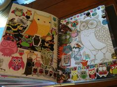 Owls Smash Book Page